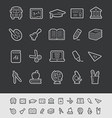 Education Icons Black Background vector image vector image