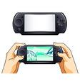 portable gamepad vector image