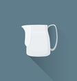 flat coffee barista milk pitcher icon vector image