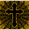 Orthodox cross background vector image