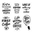 cup quote emblem set vector image
