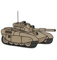 Funny heavy tank vector image