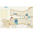 Kitchen color vector image