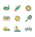 summer activities and recreation vector image
