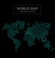 World Map Abstract Design Dot and Line Connection vector image