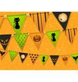Halloween bunting vector image