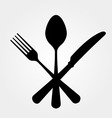 Black Cutlery vector image