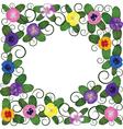pansies frame vector image