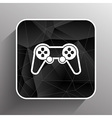 joystick icon Rounded squares button console vector image
