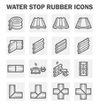 Water stop icon vector image