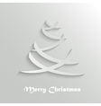 Abstract Modern Christmas Tree Background Design vector image vector image