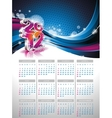 calendar design 2012 on blue background vector image