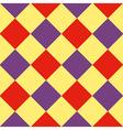 Yellow Purple Red Diamond Chessboard Background vector image