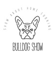 Logo with french bulldog for veterinary or petshop vector image