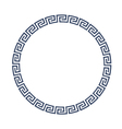 Round decorative frame for design in Greek style vector image vector image