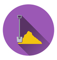 Icon of Construction shovel and sand vector image vector image