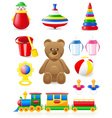 icon of toys and accessories vector image vector image