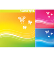 Bright Summer Background Set vector image