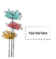 design of hand drawn doodle flowers set for your vector image