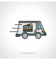 Dessert delivery flat color icon vector image