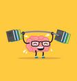 enjoyable education brain cartoon training vector image