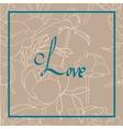 Handwritten Love Script vector image