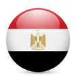 Round glossy icon of egypt vector image
