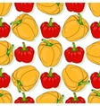 seamless pattern with yellow and red sweet vector image