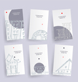Set of architecture company identify cards vector image