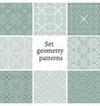 Set of ornamental patterns for backgrounds vector image