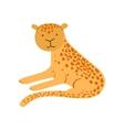 Jaguar Stylized Childish Drawing vector image