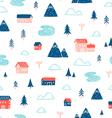 Winter town landscape pattern vector image