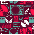 Music icons seamless pattern vector image vector image