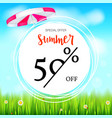 summer selling ad banner fifty percent holiday vector image
