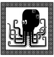 stylized silhouette of an octopus vector image