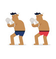 thai character boxing rope standing flat thai vector image