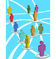 3d people in the social network vector image vector image
