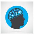 Creative head vector image
