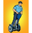 Police patrol electric scooter vector image