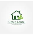 Green house logo Energy saving concept vector image