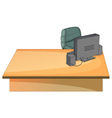 Office desk vector image vector image