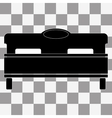 black bed icon on transparent vector image