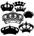 royal crowns vector image