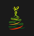 abstract christmas tree symbol vector image