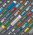 cars vehicle city transport traffic jam road vector image