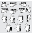 Hand navigation symbols set vector image