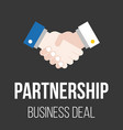 handshake icon partnership vector image