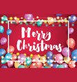 merry christmas greeting card with flying vector image