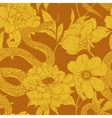 Pattern with snake and flowers vector image