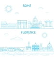 Rome and Florence line Rome vector image